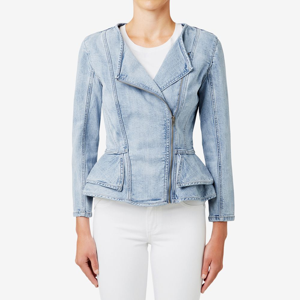 Shop Now Asymmetric Peplum Jacket Seedheritage Seed Woman Peplum Jacket Jackets Clothes [ 1000 x 1000 Pixel ]