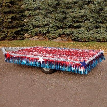 easy float patriotic trailer kit standard - Float Decorations