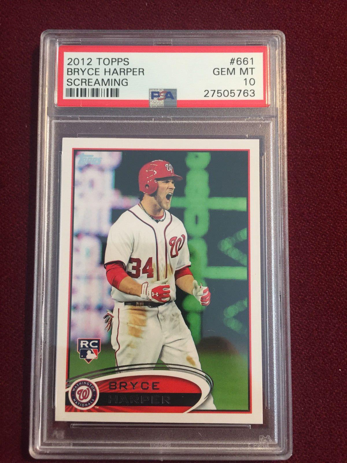 Bryce Harper 2012 Topps Short Print Screaming Rookie Card Rc
