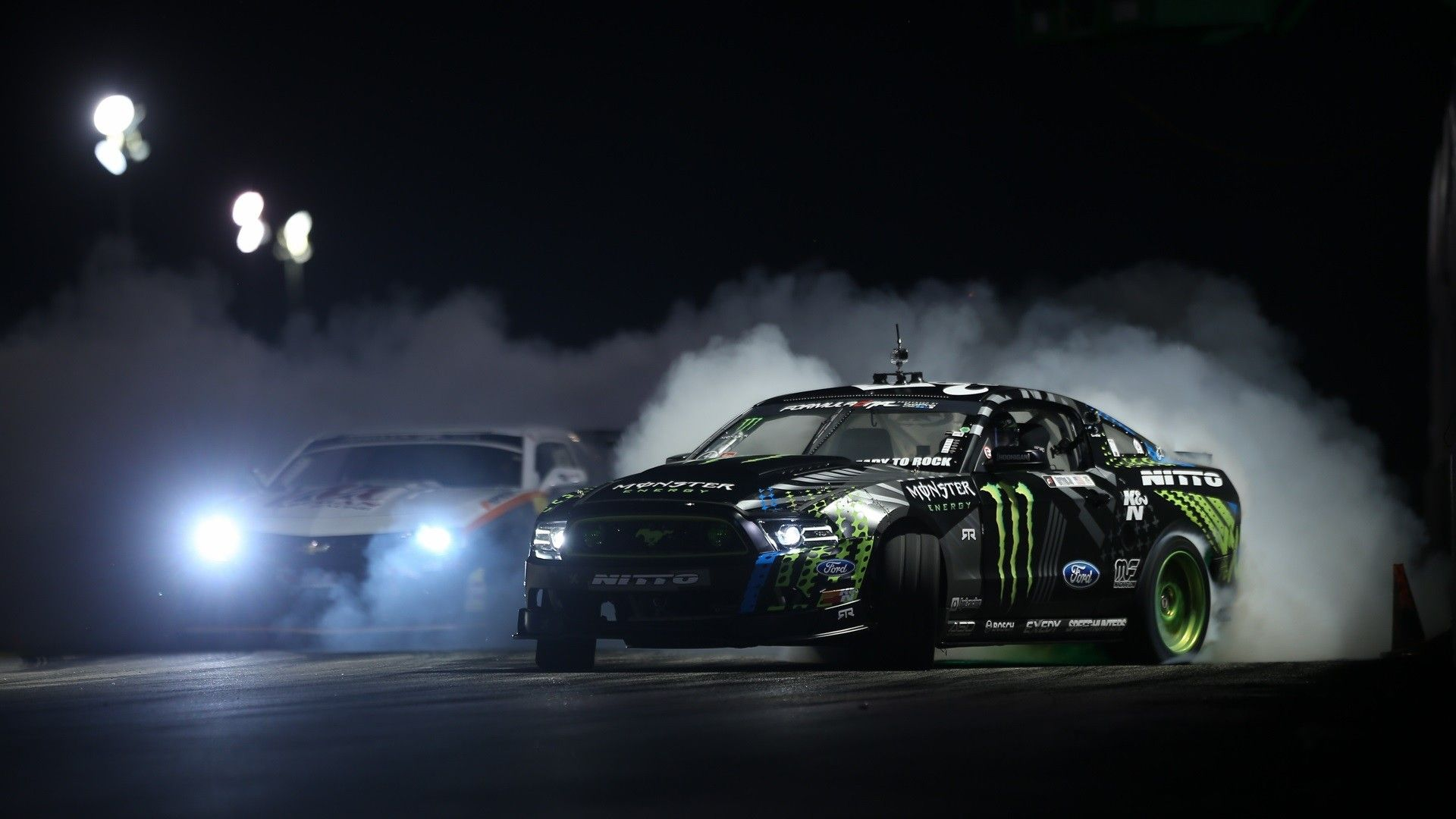 General 1920x1080 Ford Mustang Chevrolet Camaro Drift Monster Energy Car Wallpapers Ford Racing Best Car Photo