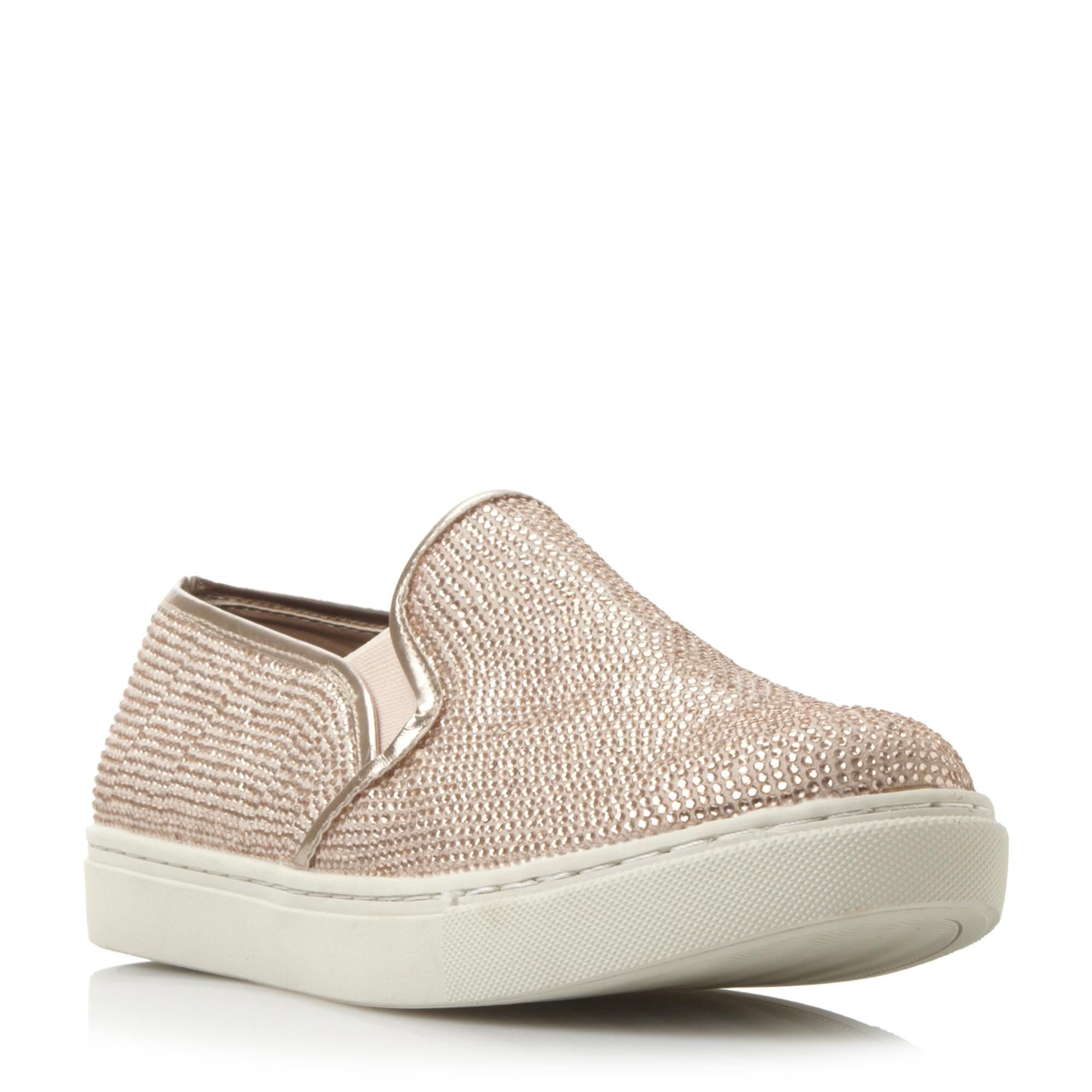 STEVE MADDEN EXSESS SM - Rhinestone Embellished Slip On Trainer - rose gold  | Dune Shoes