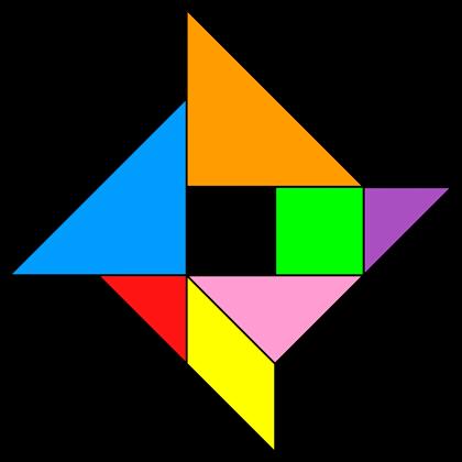 tangram pinwheel tangram solution 85 providing teachers and pupils with tangram puzzle activities