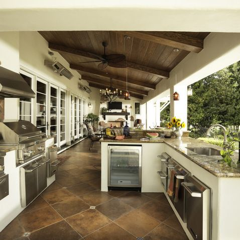 Outdoor Kitchen A Little Extreme But Def A Requirement For The New House Outdoor Kitchen Patio Outdoor Kitchen Design Outdoor Kitchen