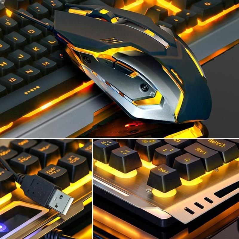 Gaming Keyboard and 3200DPI Optical Mouse Set