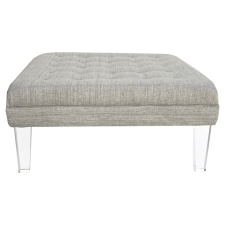 Love the acrylic legs!  This is the Cannes Ottoman in Silver from the Rojo 16 event at Joss and Main.