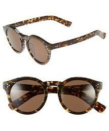 Illesteva | Illesteva 'Leonard II' 50mm Round Mirrored Sunglasses(Sunglasses)