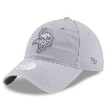 4365e1f7 Women's New Era Gray Minnesota Vikings Team Glisten 9TWENTY ...