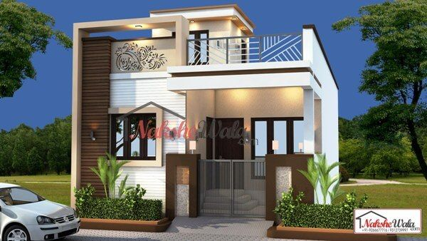 47ab88e1c3e9f0a39ba4b04f7d88356b - View Residential Building Small House Double Floor Front Elevation Design Gif