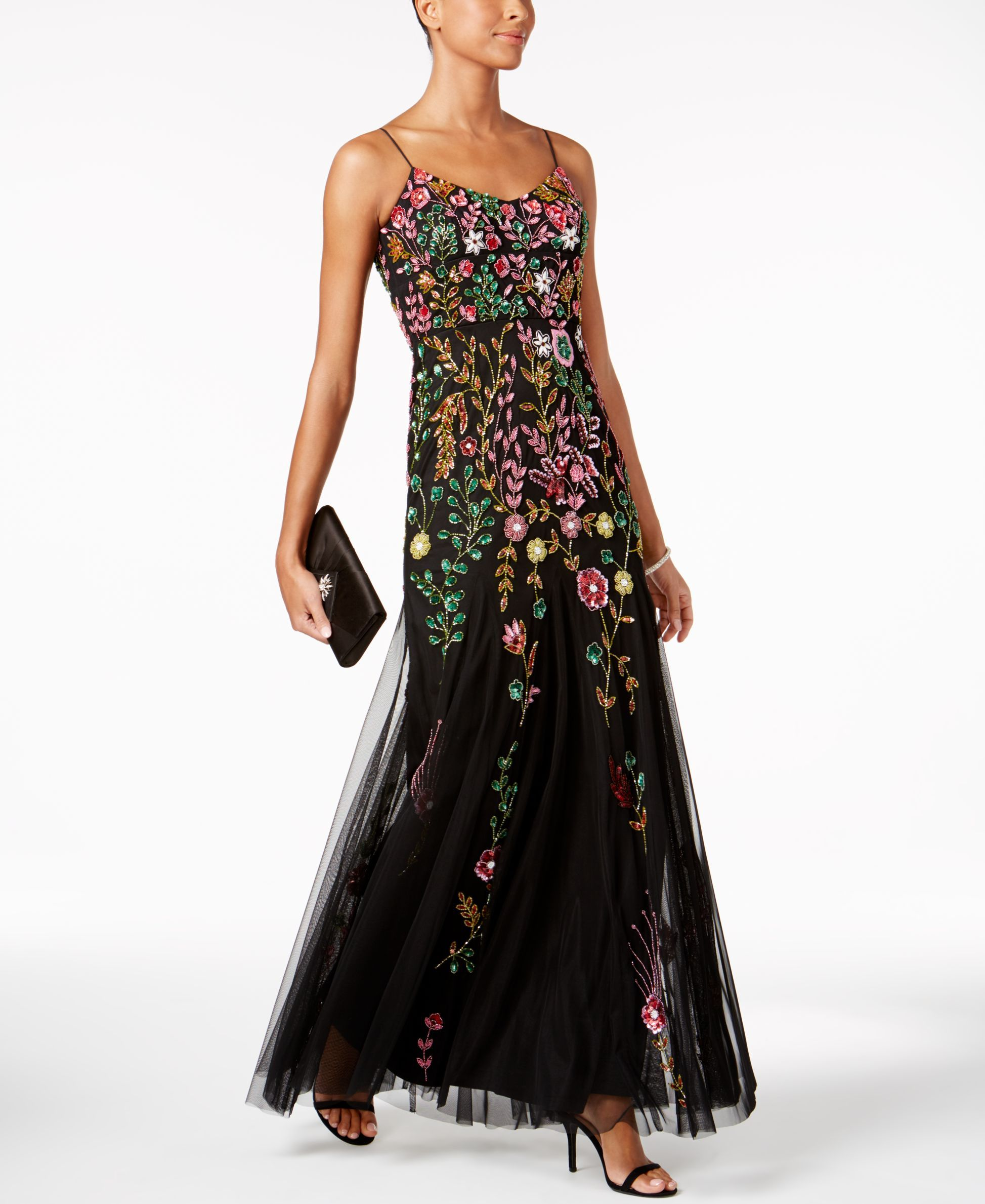 Macys womens dresses wedding  Adrianna Papell Beaded Gown  Products  Pinterest  Adrianna papell