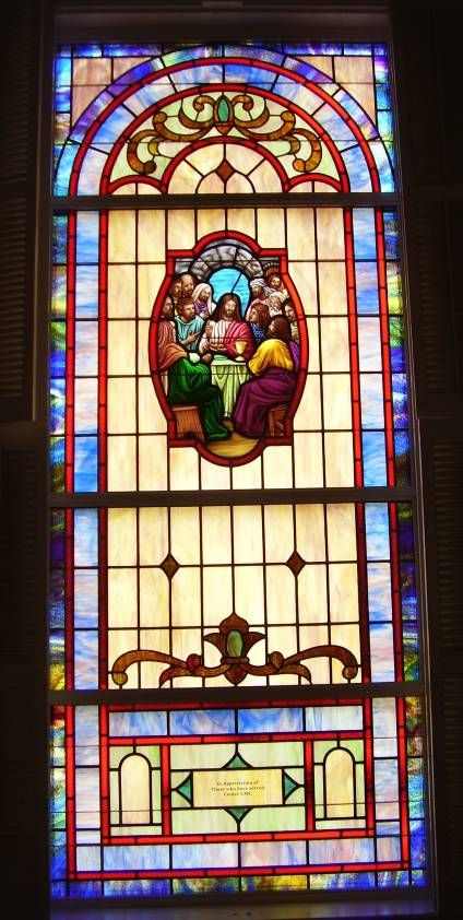 Stained Glass Windows at Center United Methodist Church in Concord, NC