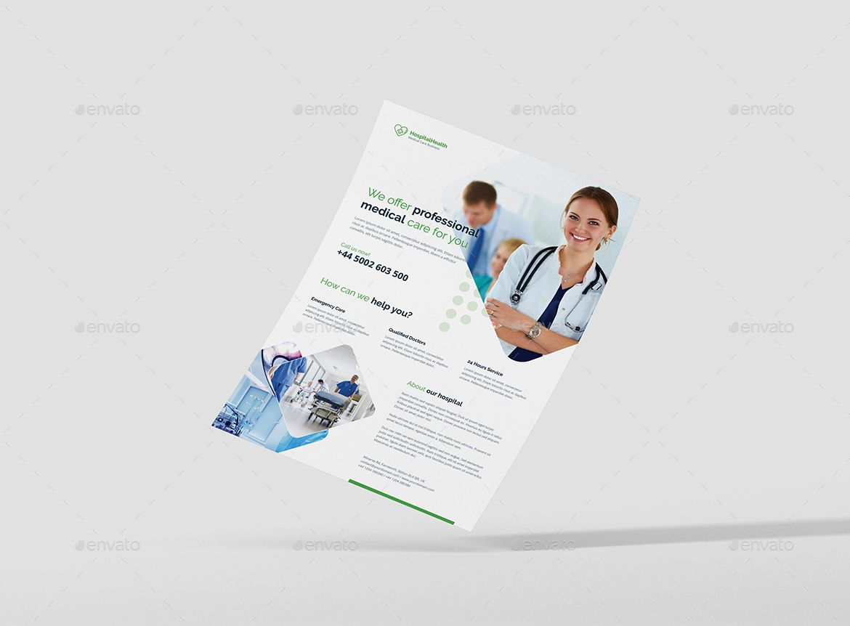 flyer hospital health pinterest flyer template 3d design and