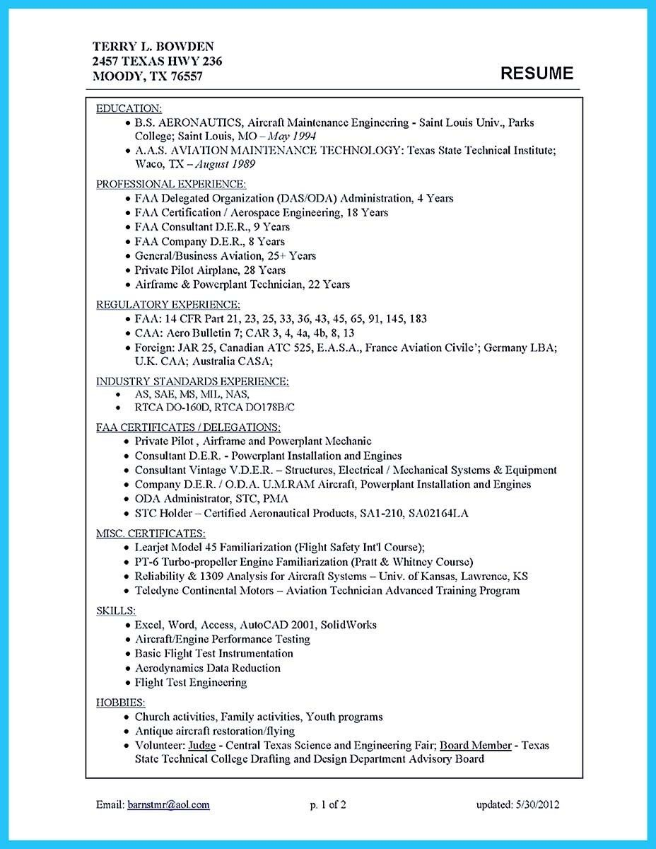 awesome convincing design and layout for aircraft mechanic resume httpsnefci