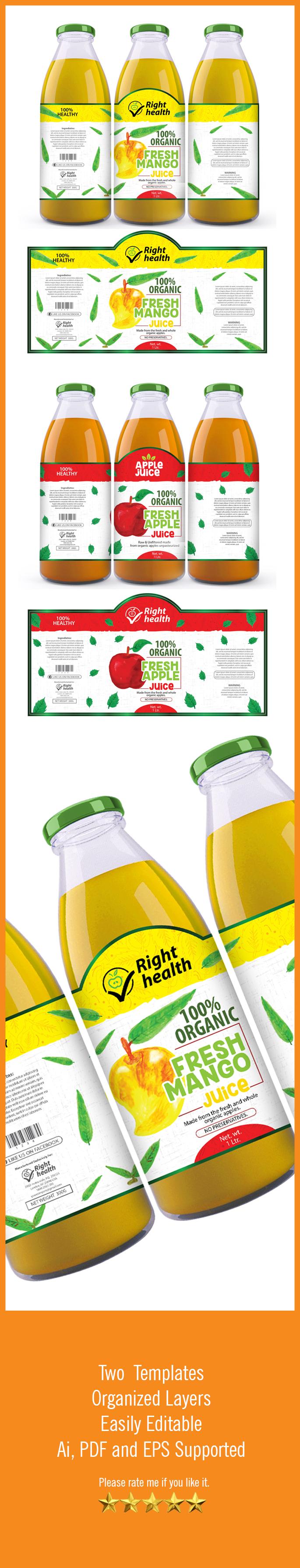 Juice label Template | Pinterest