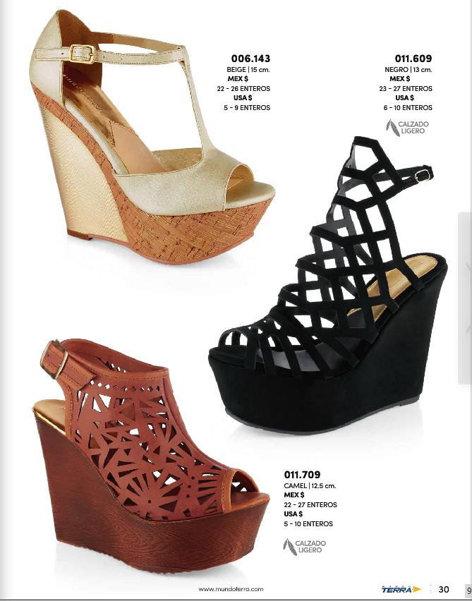 Zapatos Terra con plataforma para mujer. Moda 2017 Primavera Verano 8cdf54494b397