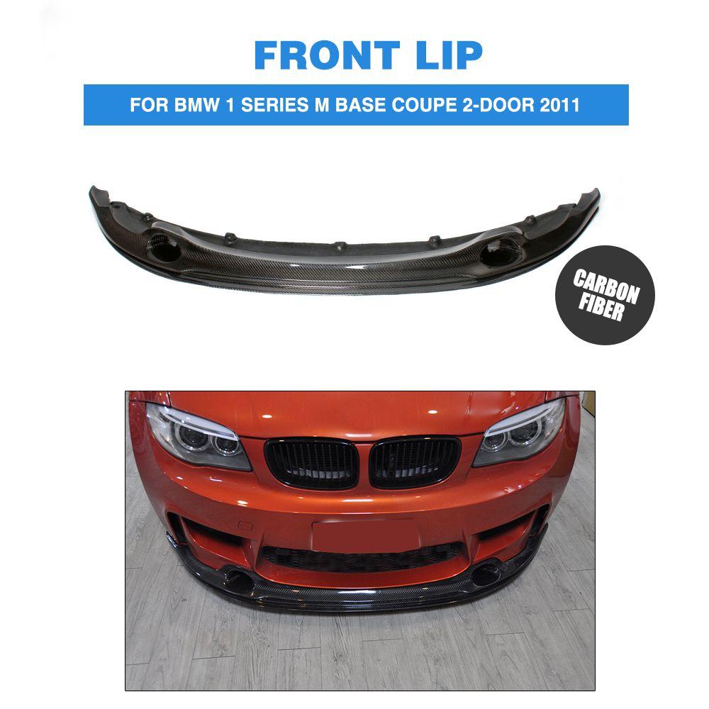 1 Series M Carbon Fiber Front Lip Spoiler Aprons For Bmw 1 Series