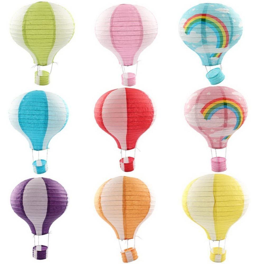 12 Inch Hot Air Balloon Paper Lantern Wedding Party Birthday Garden ...
