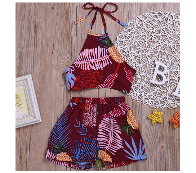 MA/&BABY Baby Girls Halter One-Pieces Romper Jumpsuit Sunsuit Outfit Clothes 0-24M
