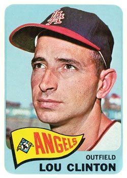 229 Lou Clinton Los Angeles Angels B Topps Baseball