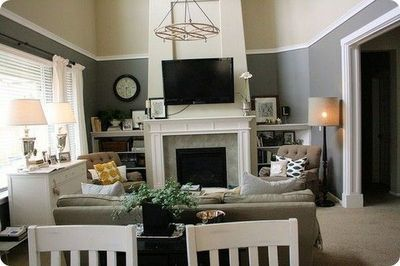 Decorating Rooms With High Ceilings high chair rail   living room ideas   pinterest   high ceiling