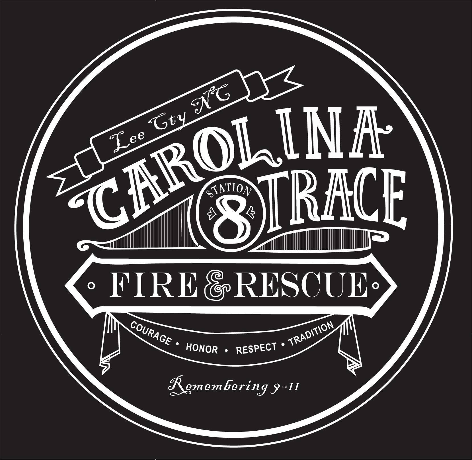 Hand drawn Logo design for Carolina Trace FD, sanford, nc