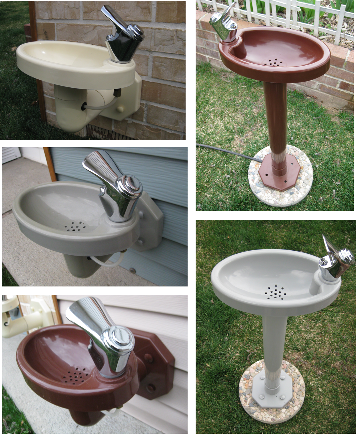 Outdoor drinking fountain for the kids in the back yard. Then they don't  come in the house every five minutes begging for a drink. - Outdoor Drinking Fountain For The Kids In The Back Yard. Then They
