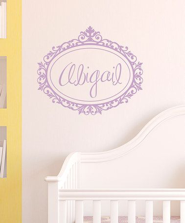 Take a look at this Lilac Scroll Frame Personalized Wall Quote by Wallquotes.com by Belvedere Designs on #zulily today!