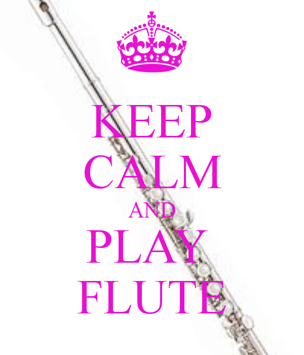 Keep Calm and Play the Flute....In Pink!