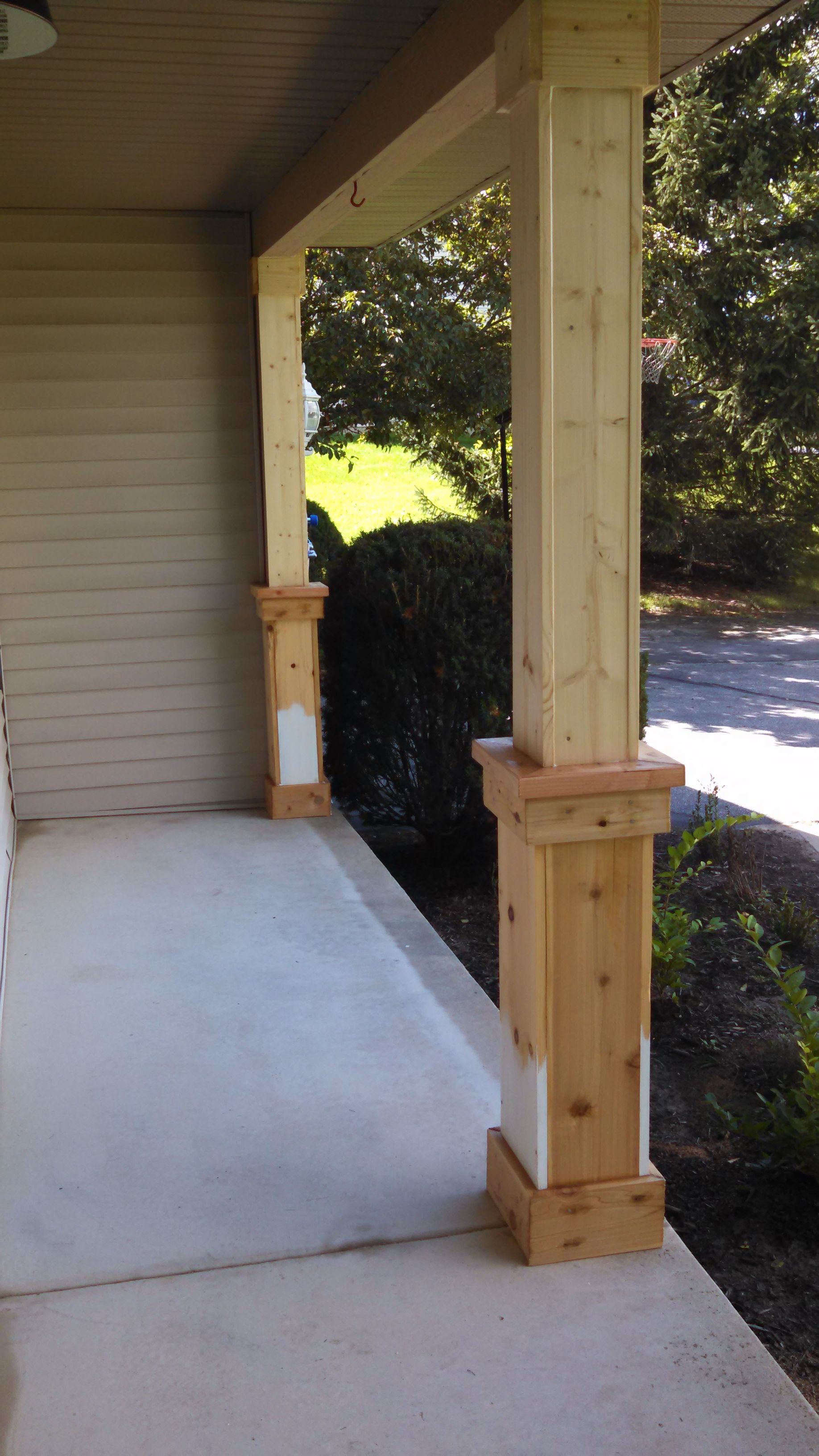 Beefing up the porch columns part 1 of a gazillion for Craftsman porch