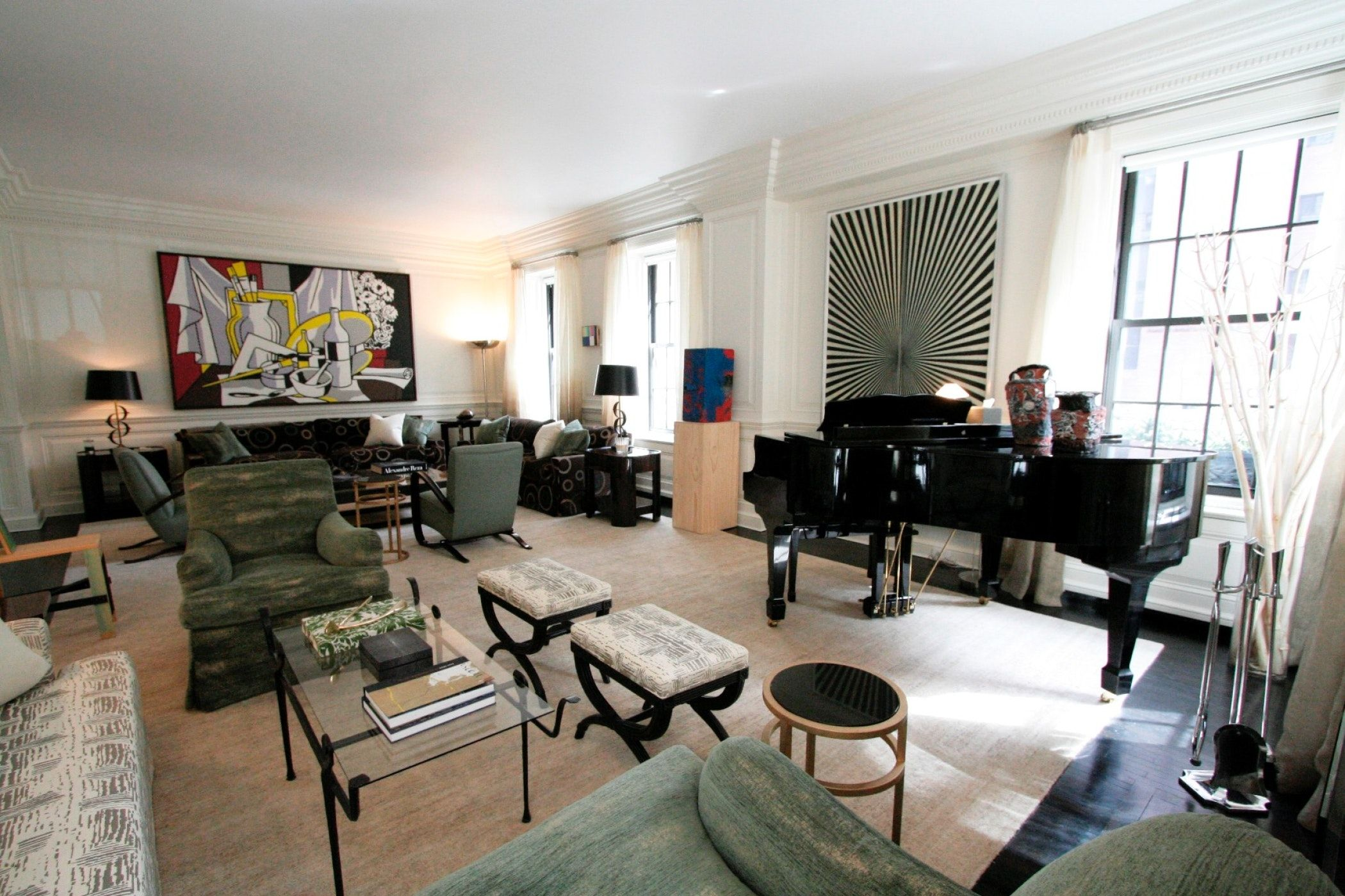 Mac Ii Living Room Of Duplex New York Apartment With Images