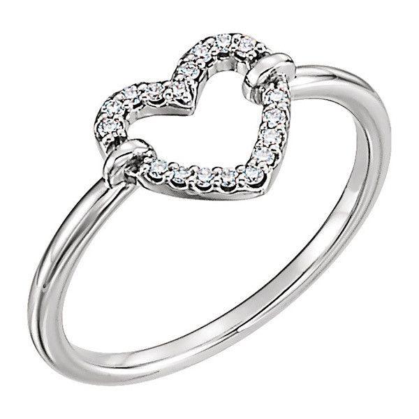 1 10 Carat Diamond 14K White Gold Heart Ring €445 ❤ liked on