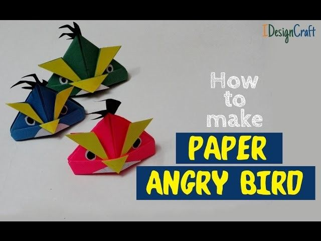 Photo of How to Make Angry Birds with Paper | Origami Bird Easy