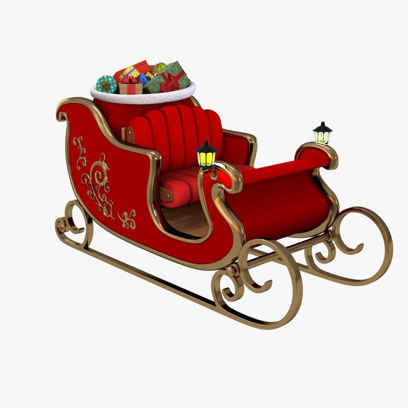 3d Santa S Sleigh Santa Sleigh Sleigh Christmas Decorations Diy Outdoor