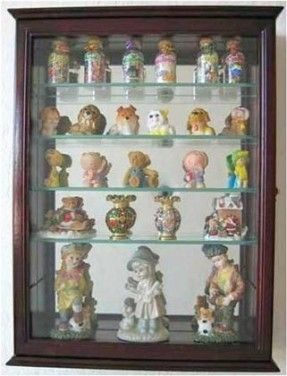 Wine Glass Display Case Shadow Box Display Case Wall Curio Cabinet Glass Display Case