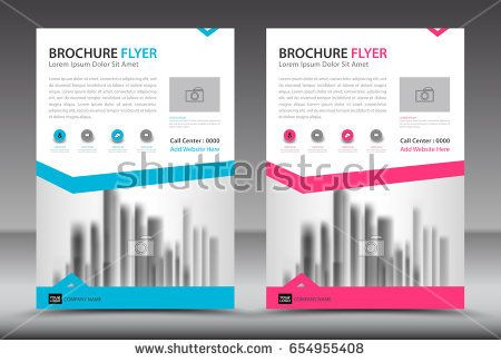 Business brochure flyer template, annual report, cover design - advertisement brochure