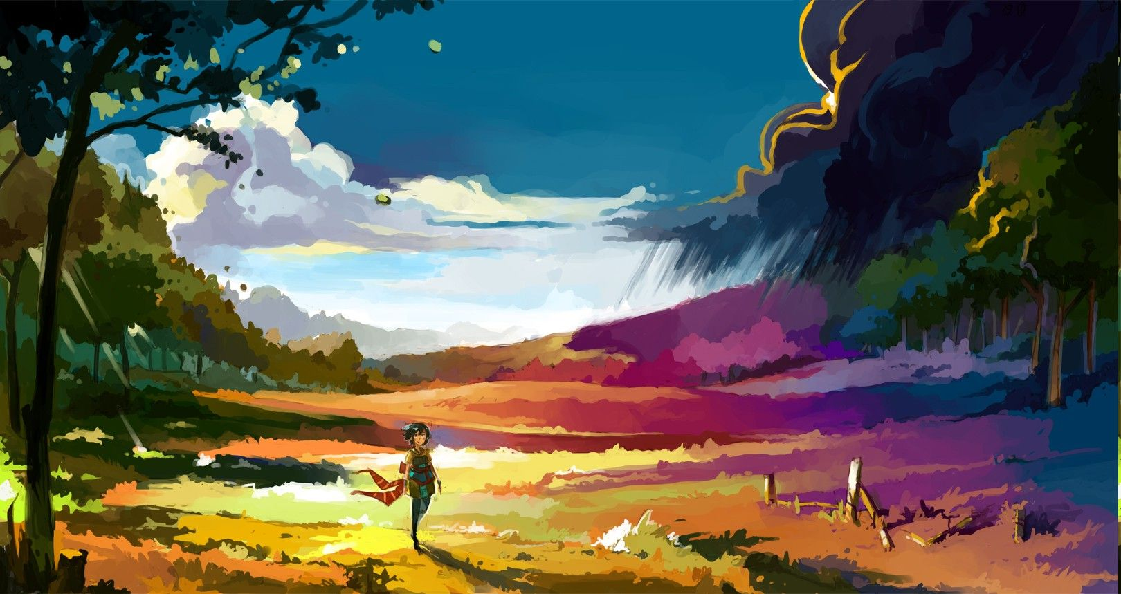 Anime Landscape Colorful Wallpapers Hd Desktop And Mobile