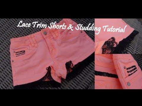▶ DIY: EPIC Lace Trimmed & Studding Tutorial - YouTube