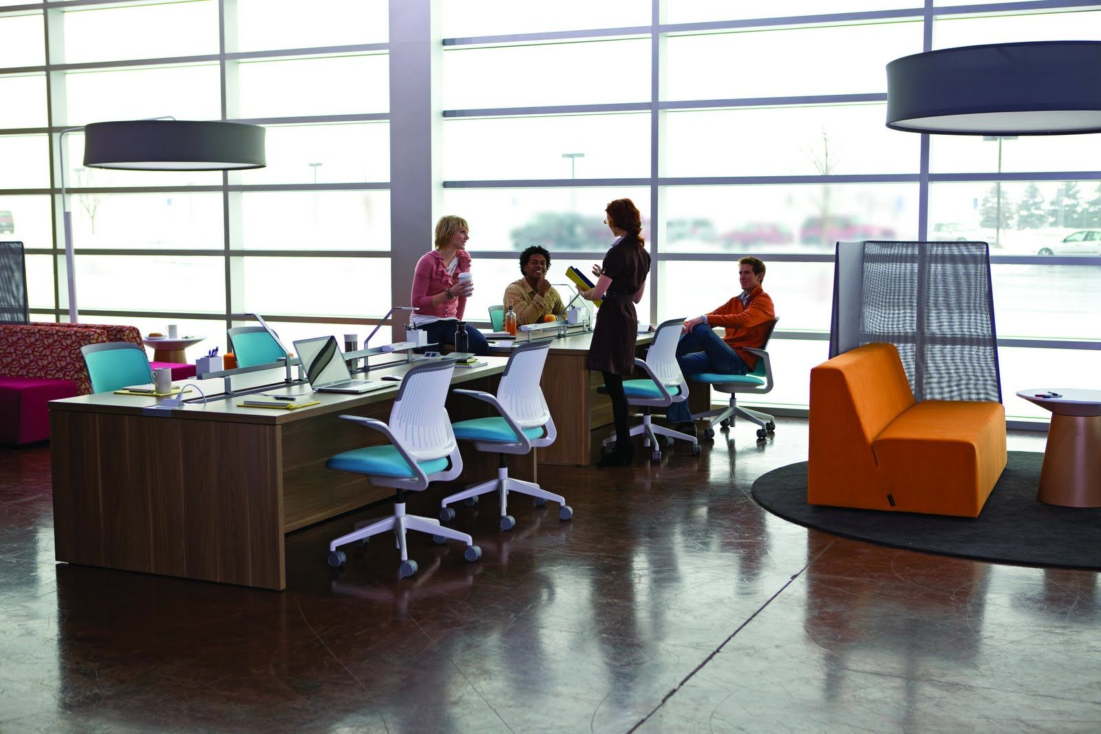 Between advancements in technology millennial demands and globalization the world of work is - Modern office furniture for small spaces gallery ...