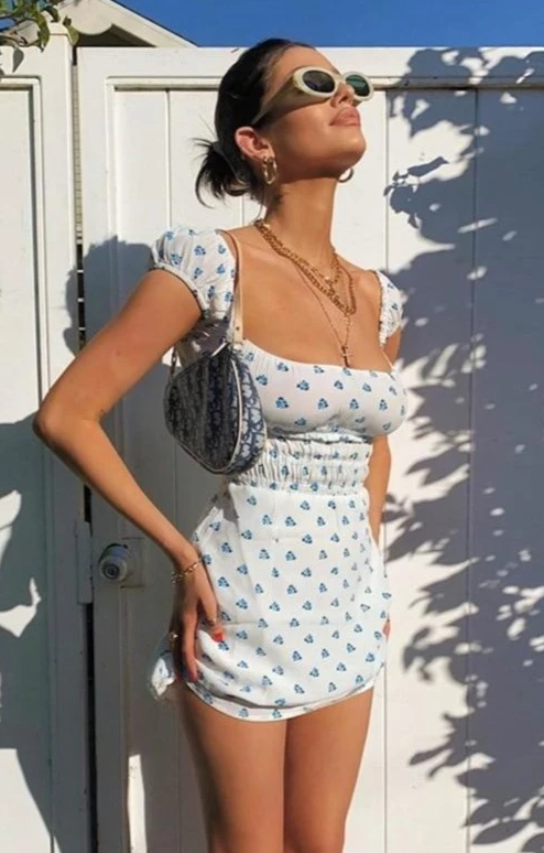 August Lemonade Loving Summer Mini Dress
