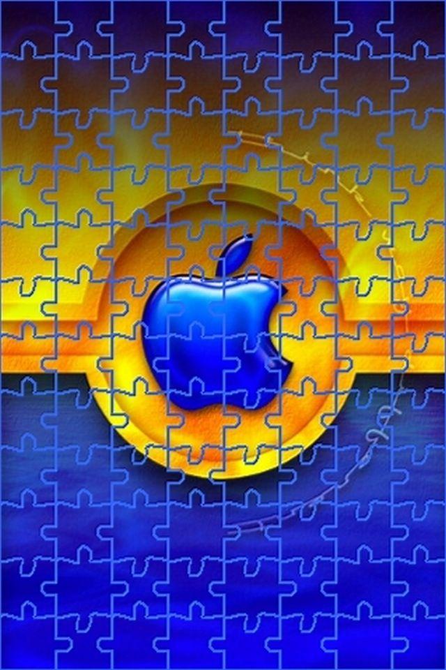 Blue Yellow Apple Logo Wallpaper Apple Logo Wallpaper Iphone