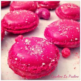 Caroline La Praline: Sweets Macarons au chocolat blanc et pralines roses