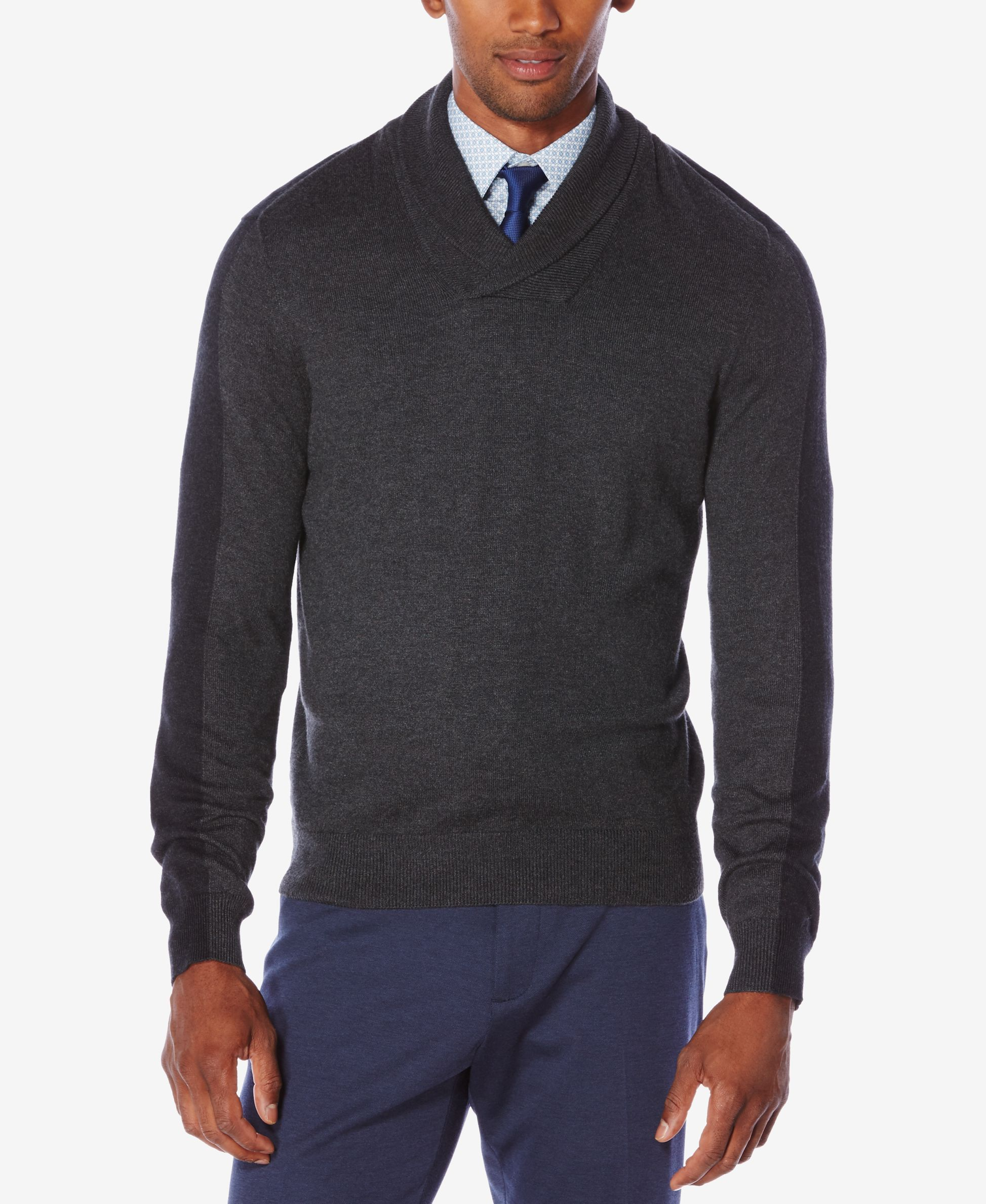Perry Ellis Men's Jacquard Shawl-Collar Sweater | Products ...