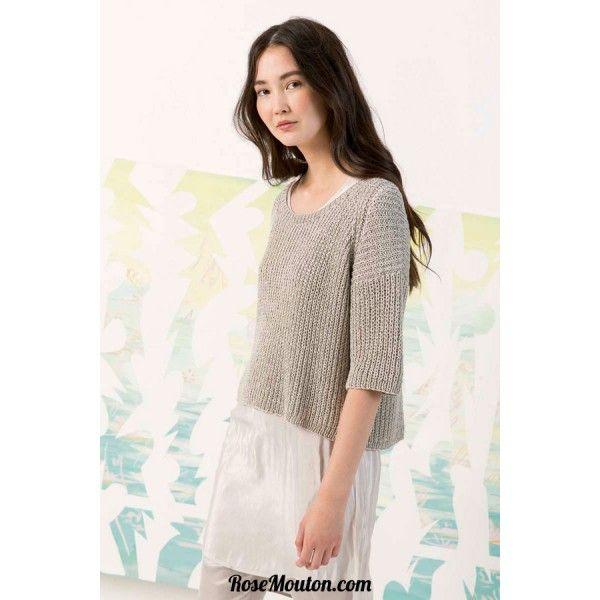 Modèle pullover 41 catalogue FAM 242 Lang Yarns