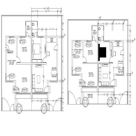 Apartment Autocad Floor Plan And Architecture Drawing Floor Plans Luxury House Plans House Plans