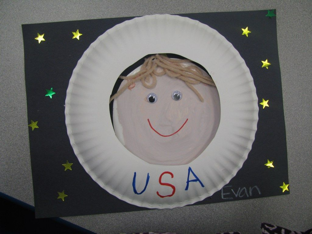 Paper Plate Astronaut