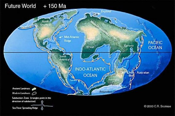 Future Plate Tectonics | The process of tectonic plates movement continues. This is how ...