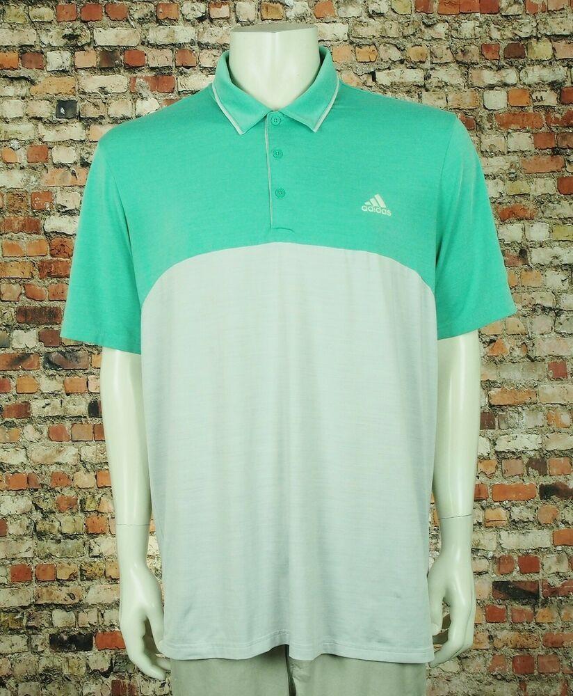 45776b8a Adidas Golf Ultimate 365 Heather Green Tech Golf Polo Shirt Mens XL  #fashion #clothing