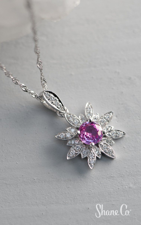 e4b7b4082118f9 Pink Sapphire and Diamond Pendant (20 in.) in 2019