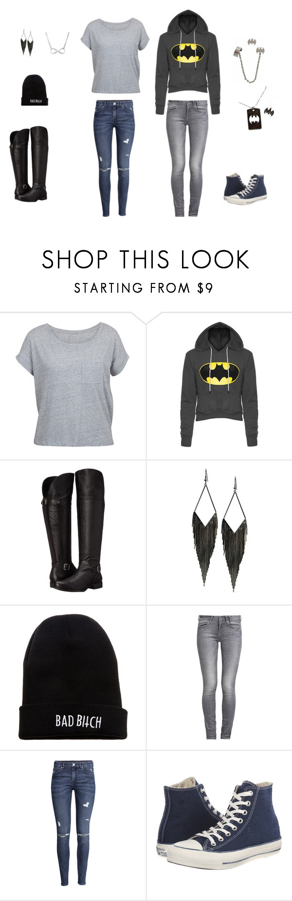 Addison Hart by lovebugemma64 on Polyvore featuring H&M, GUESS, Naturalizer, Converse and Kill Brand