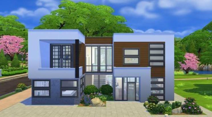 Mira este solar en la galer a de los sims 4 casas sims 4 Casas modernas sims 4 paso a paso