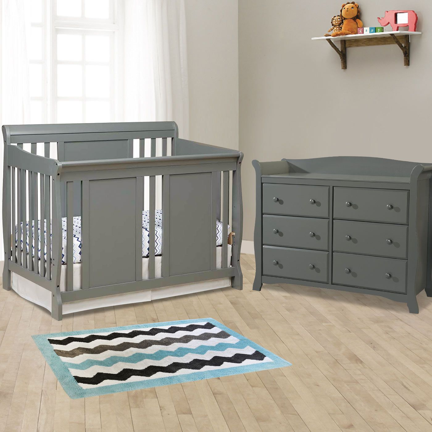 Storkcraft 2 Piece Nursery Set Verona Convertible Crib And